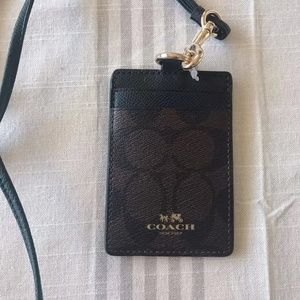 Coach Coated Canvas Leather Id Card Holder Wallet